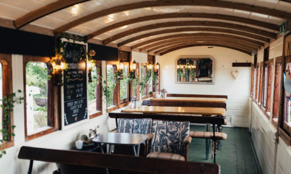Images from Pip's Railway Carriage Café