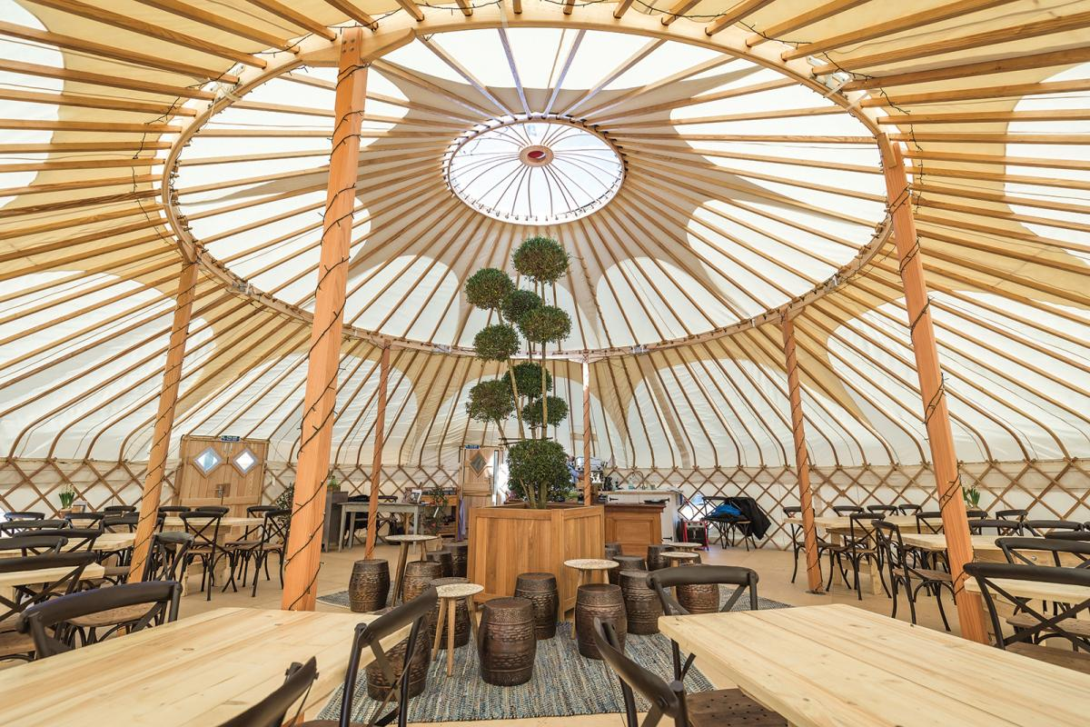 Images from The Yurt at Nicholsons
