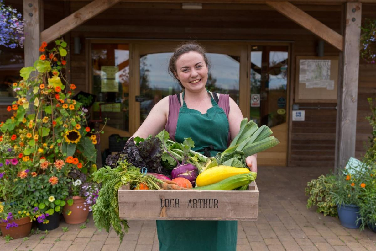 Images from Loch Arthur Camphill Community Farm Shop