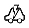 Icon for electric car charging